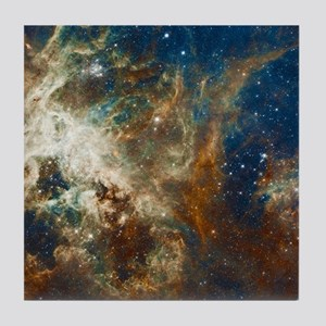 Tarantula Nebula Galaxy Tile Coaster