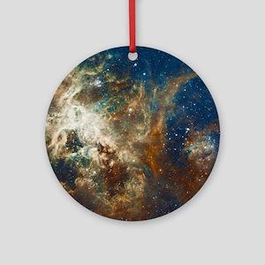 Tarantula Nebula Galaxy Round Ornament