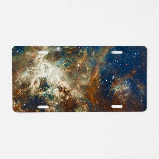 Tarantula Nebula Galaxy Aluminum License Plate