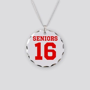SENIORS 16 - RED Necklace Circle Charm