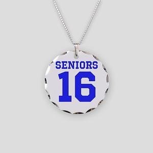 SENIORS 16 - BLUE Necklace Circle Charm