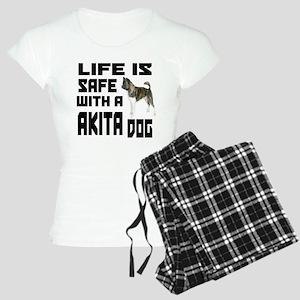 Life Is Safe With A Akita Women's Light Pajamas