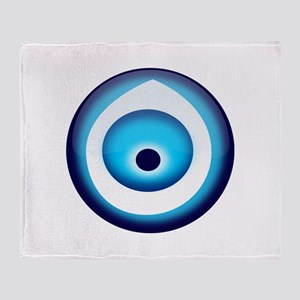 Blue Evil Eye Throw Blanket