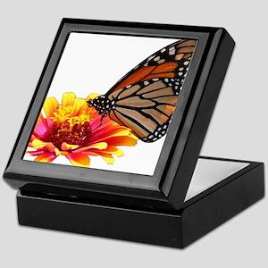 Monarch on Zinnia Keepsake Box
