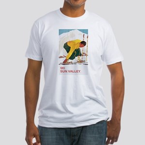 Ski Sun Valley Idaho Fitted T-Shirt