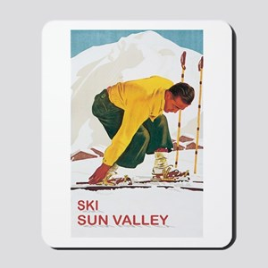 Ski Sun Valley Idaho Mousepad