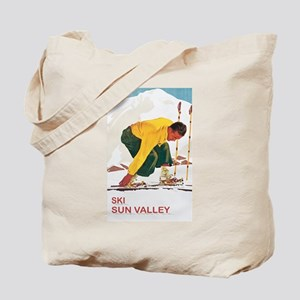 Ski Sun Valley Idaho Tote Bag