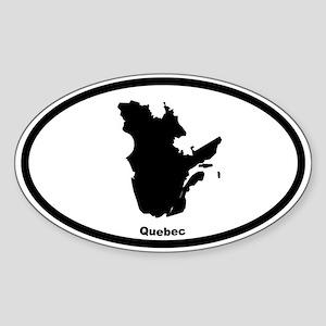 Quebec Canada Outline Oval Sticker