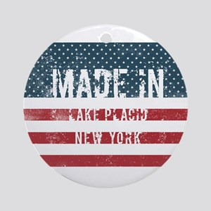 Made in Lake Placid, New York Round Ornament