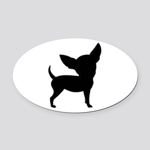 Chihuahua Two 1C Oval Car Magnet