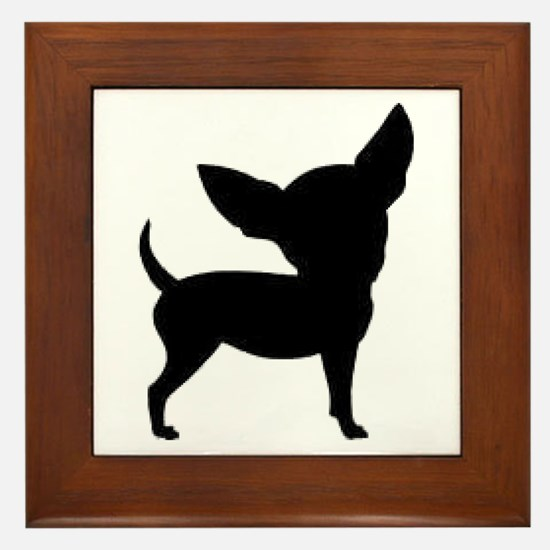 Chihuahua Two 1C Framed Tile