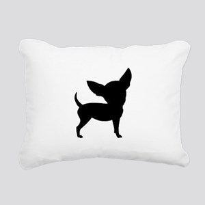 Chihuahua Two 1C Rectangular Canvas Pillow