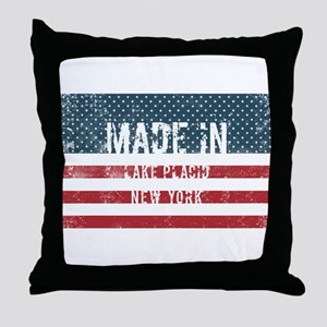 Made in Lake Placid, New York Throw Pillow