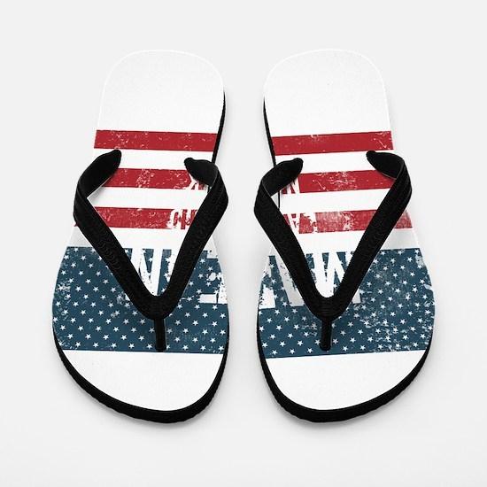 Made in Lake Placid, New York Flip Flops