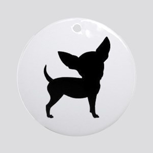 Chihuahua Two 2 Round Ornament