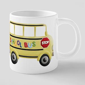 cute yellow school bus Mugs