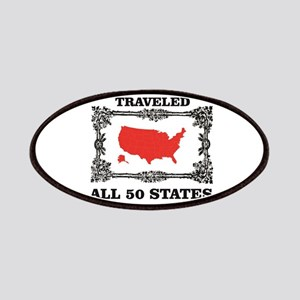 red traveled USA Patch
