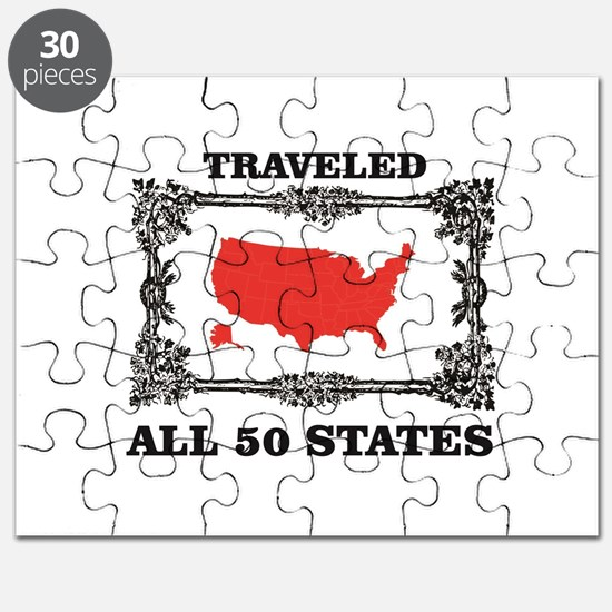 red traveled USA Puzzle