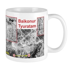 Baikonur Space Launch Site Missile Range Mug Mugs