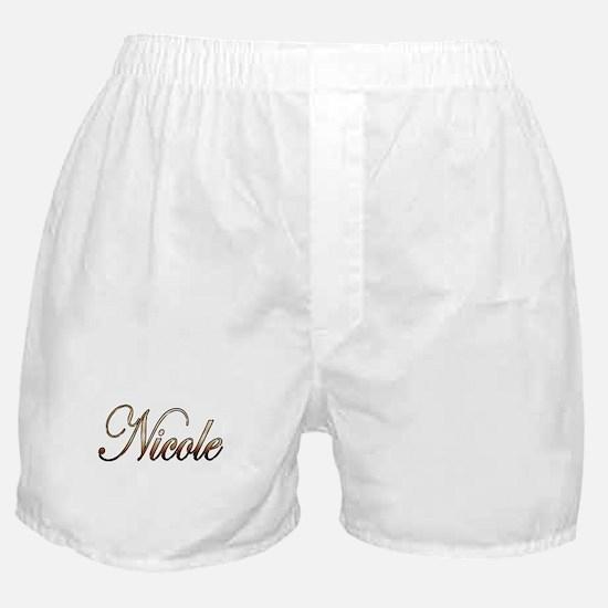 Gold Nicole Boxer Shorts