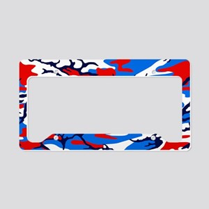 Red, White and Blue Camo License Plate Holder