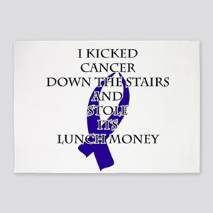 Cancer Bully (Dark Blue Ribbon) 5'x7'Area Rug