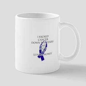 Cancer Bully (Dark Blue Ribbon) Mugs