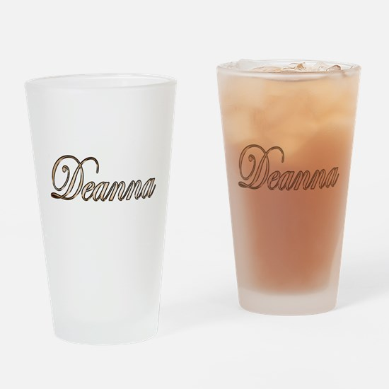 Gold Deanna Drinking Glass