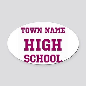 High School Oval Car Magnet