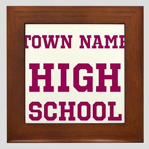 High School Framed Tile
