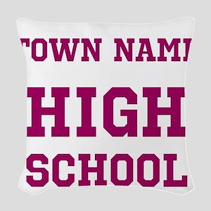 High School Woven Throw Pillow