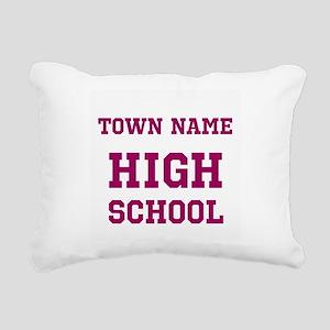 High School Rectangular Canvas Pillow