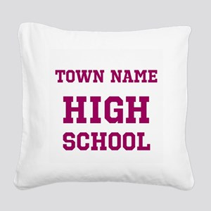High School Square Canvas Pillow