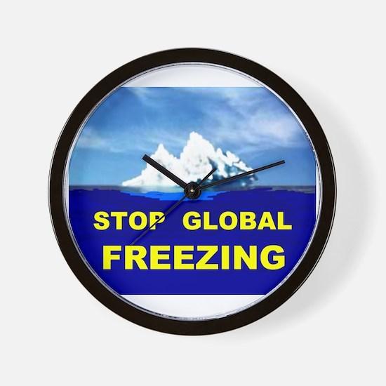 GLOBAL FREEZING Wall Clock