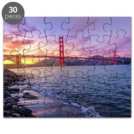 Old San Francisco California Map Puzzles Old San Francisco