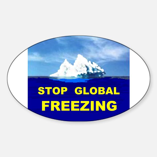GLOBAL FREEZING Oval Decal