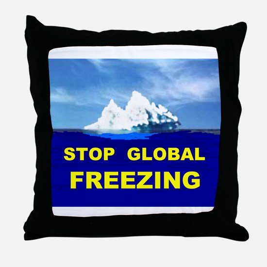 GLOBAL FREEZING Throw Pillow