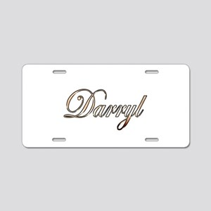 Gold Darryl Aluminum License Plate