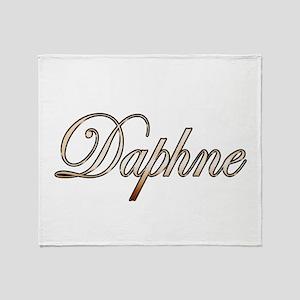 Gold Daphne Throw Blanket