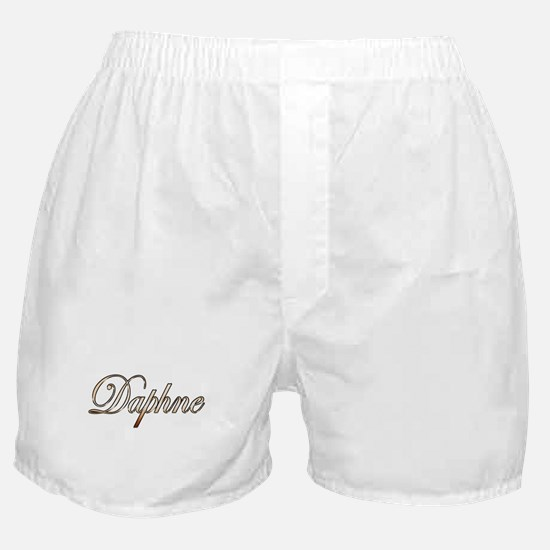 Gold Daphne Boxer Shorts