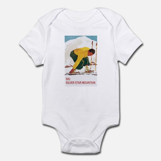 Ski Silver Star Infant Bodysuit