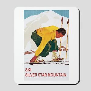 Ski Silver Star Mousepad
