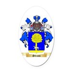Strass Oval Car Magnet