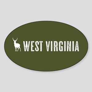 Deer: West Virginia Sticker (Oval)
