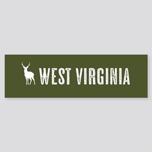 Deer: West Virginia Sticker (Bumper)