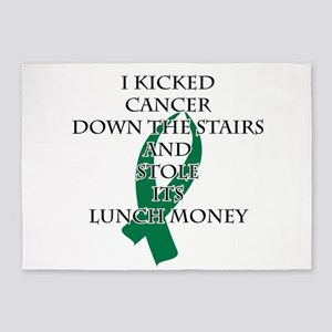 Cancer Bully (Green Ribbon) 5'x7'Area Rug