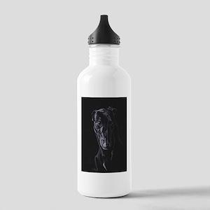Black greyhound silhouette Water Bottle