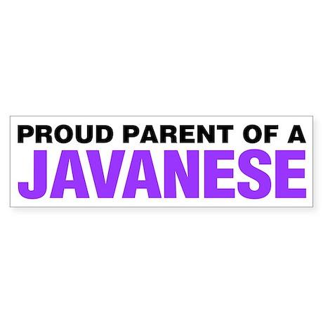 Proud Parent of a Javanese Sticker