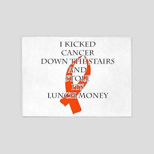 Cancer Bully (Orange Ribbon) 5'x7'Area Rug