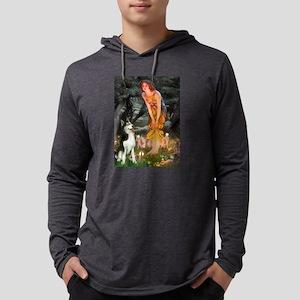 Mid.Eve / Siberian Husky Long Sleeve T-Shirt